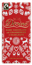 Divine Fairtrade Dark Chocolate With Cranberries And Hazelnuts 100g